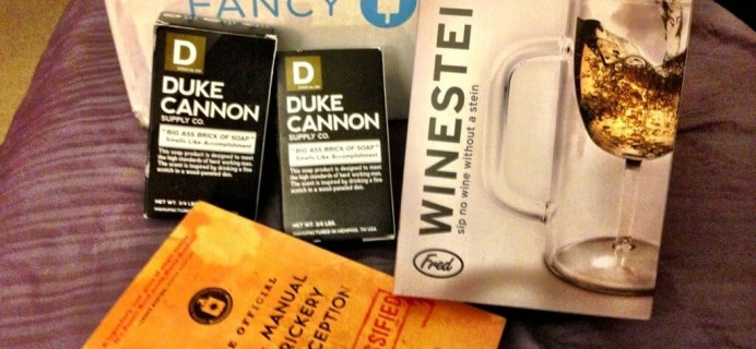 March A+ Fancy Box Review: A box for manly men and spies.