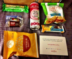 Those Sweet Potato Chips were awesome. The nuts and cashew & coconut bar were to die for.