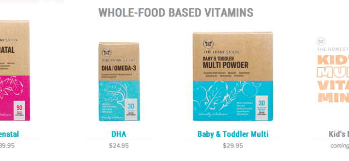 Honest Company Coupon and new Health + Wellness Bundle