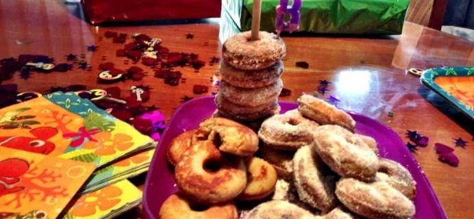 Coconut Flour Mini-Donut Birthday Tower