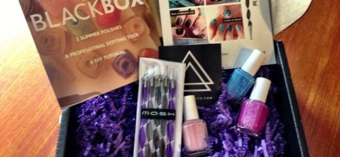 Cult Cosmetics Black Box Review – Nail Polish Art Subscription – July 2013