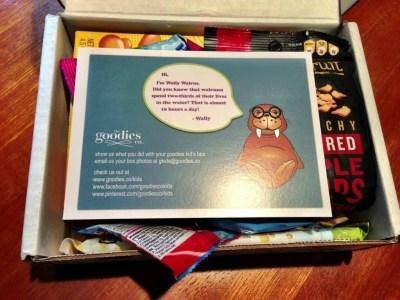 goodies box kids information card