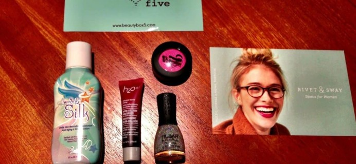 Beauty Box 5 Review – August 2013
