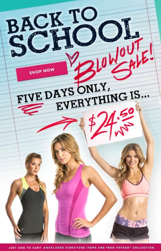 ellie workout clothing sale