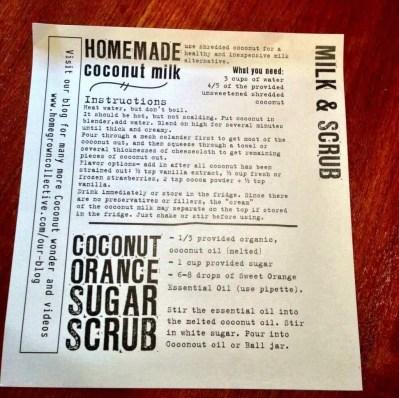 homegrown collective july lip balm coconut milk sugar scrub