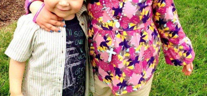Sweet Pea Box Review – Kids Clothing Subscription – August 2013 Review and GIVEAWAY!