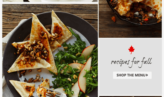 New Plated Menu – Yummy Fall Options!
