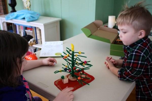 Placing the final ornaments!