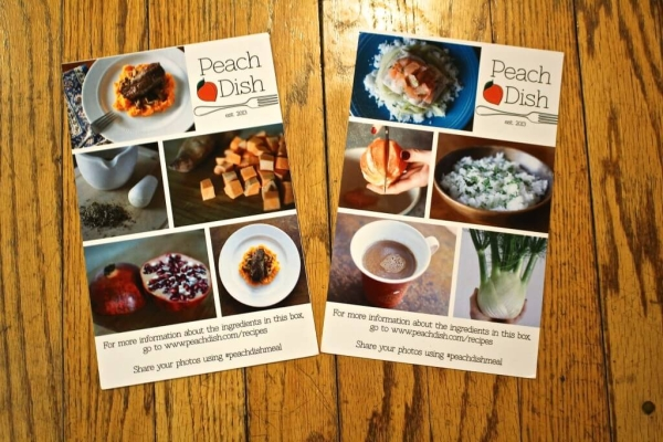 PeachDish Info Cards
