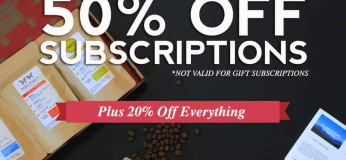 MistoBox Coffee Subscription Cyber Monday Coupon