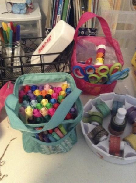 Markers, Scissors & Glue Sticks, Washi
