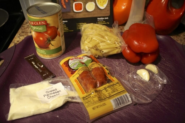 Spiced Tomato Penne with Chorizo and Garlic - Ingredients