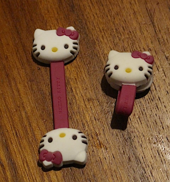 Hello Kitty Cord Clips