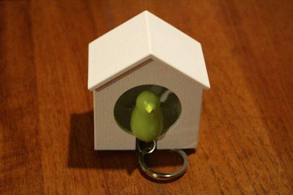 Birdhouse Key Ring