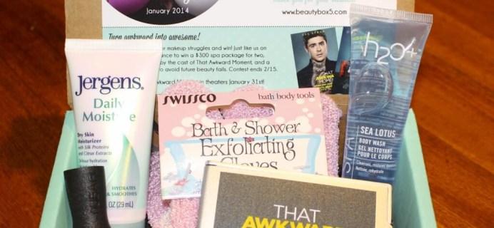 Beauty Box 5 January 2014 Review
