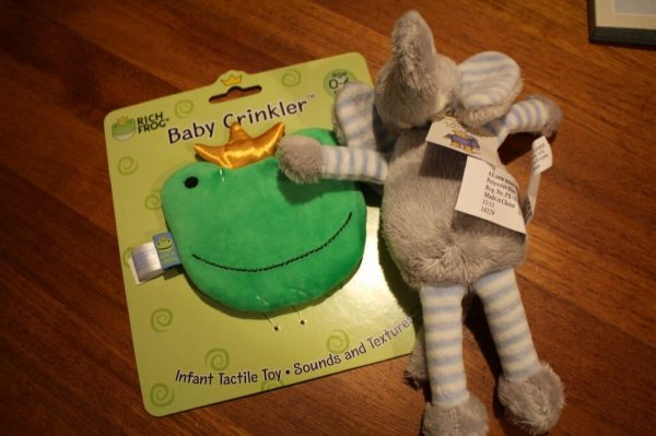 Rich Frog Crinkler & North American Bear Baby Long Legs Squeaker