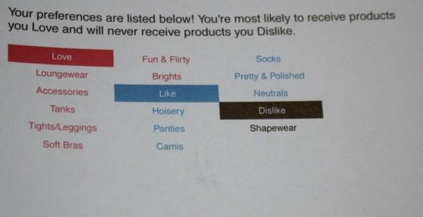 My preferences