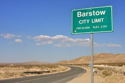 This is Barstow, it's in the middle of nowhere, but it's on the way to Vegas.