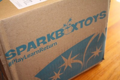 SparkBox Toys Subscription Toy Rental Review #playlearnreturn