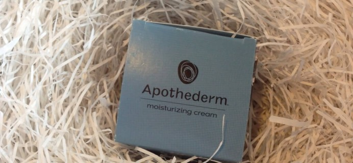 July 2014 Beauty DNA Subscription Box Review  – Apothederm Moisturizing Cream!