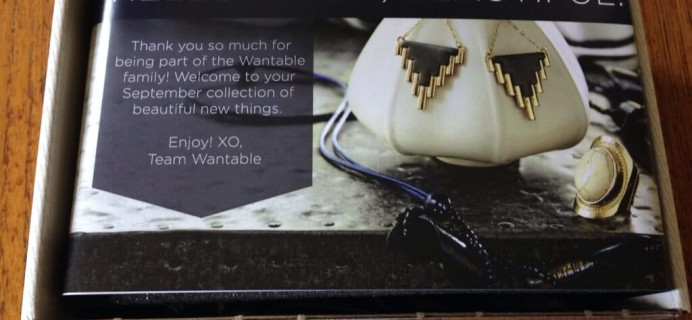 September 2014 Wantable Accessories & Jewelry Subscription Box Review