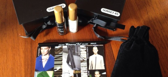 Sunset 45: Little Luxuries Box Review – Fashion & Jewelry Subscription – September 2014
