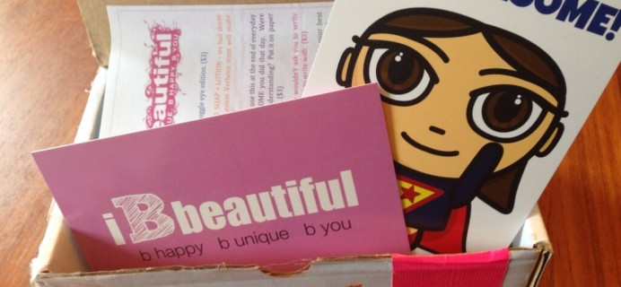 October 2014 iBbeautiful Teen & Tween Subscription Box Review
