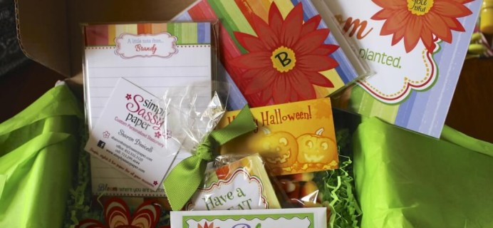 The Sassy Box Review – Personalized Stationery Subscription – October 2014