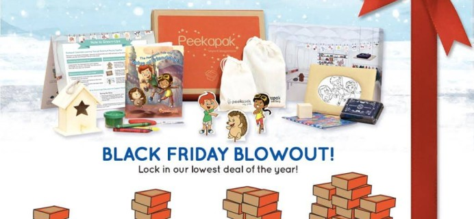 Peekapak Kids Subscription Box Black Friday Coupon