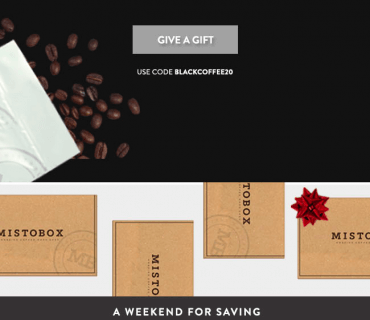 MistoBox Coffee Subscription Black Friday Deal