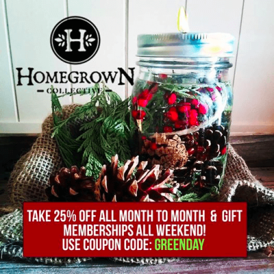 HomeGrown Collective Black Friday Coupon