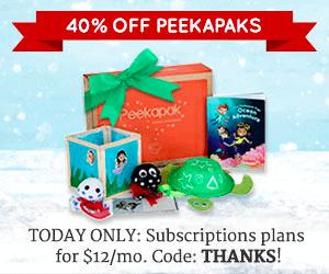 Peekapak Kids Subscription Box Cyber Monday Coupon