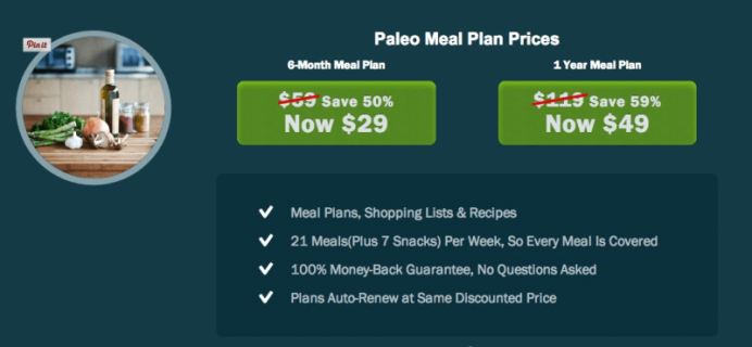 Paleo Plan Cyber Monday Deal – Paleo Meal Plans Subscription!