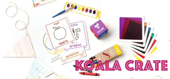 Koala Crate Preschooler Subscription Box Cyber Monday Coupon