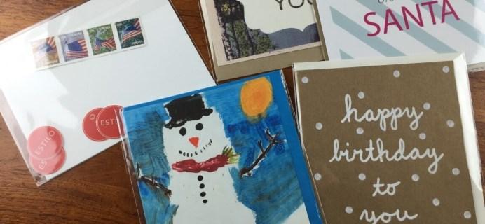 December 2014 Estilo Greeting Card Subscription Review