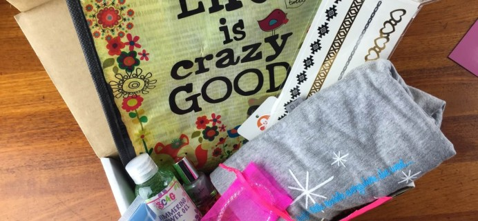 December 2014 iBbeautiful Teen & Tween Subscription Box Review