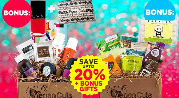 Vegan Cuts Cyber Monday Beauty + Snack Subscription Box Deals