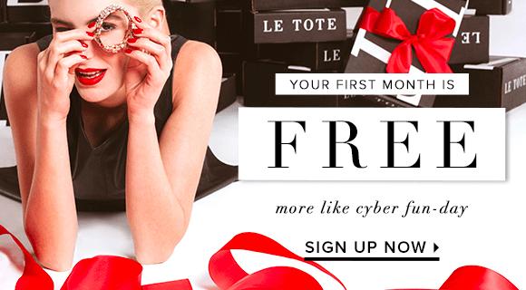 Le Tote Cyber Monday Subscription Deal – FREE Month plus $10 Bonus Credit!!