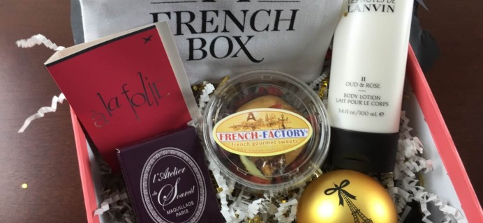 December 2014 French Box Review + $10 Coupon