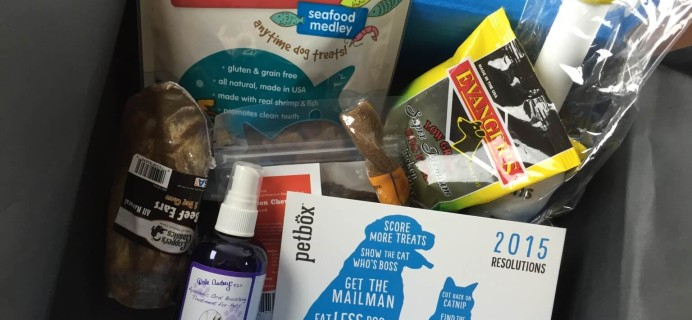 January 2015 PetBox Subscription Review & Coupon!