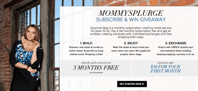 Gwynnie Bee + MommySplurge Subscribe & Win Giveaway! First Month $10!