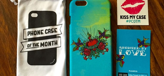 February 2015 Phone Case of the Month Review #pcotm #lovebirds