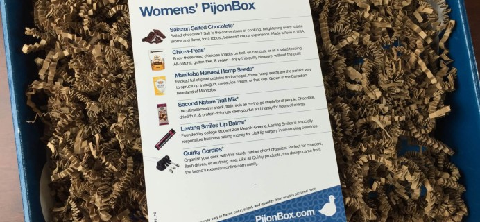 PijonBox Subscription Box Review + $10 Coupon – March 2015
