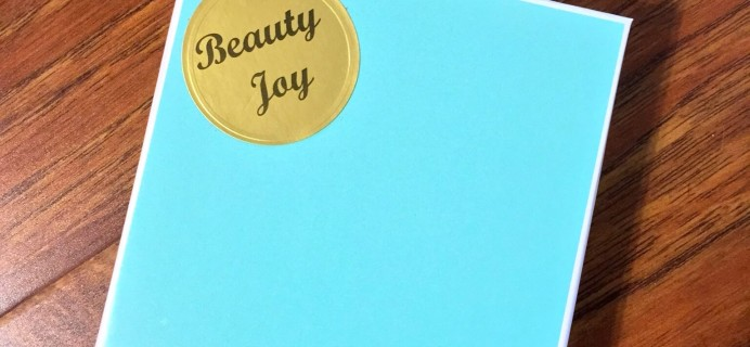 March 2015 Beauty Joy Subscription Box Review & Coupon