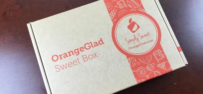 Orange Glad Review & 30% Off Coupon – Dessert Subscription Box – March 2015