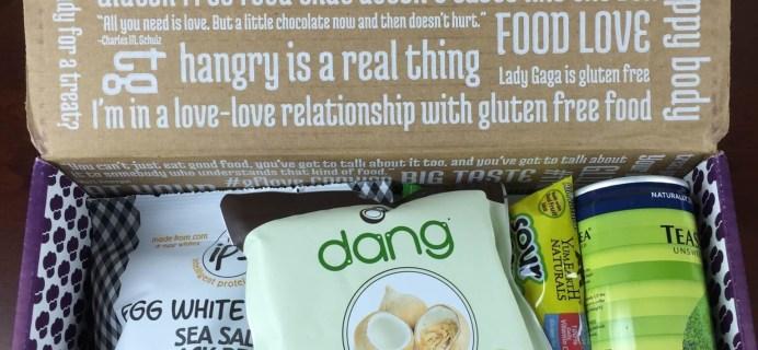 February 2015 Taste Guru Review – Gluten-Free Subscription Box