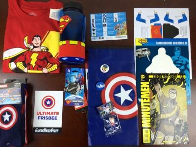 February 2015 Hero Box Review: Superhero Boy-Scouts