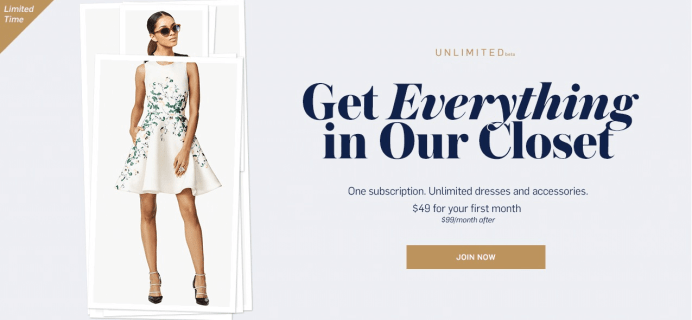 Rent the Runway Unlimited: Half Off New Clothing Rental Subscription