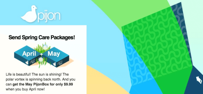 PijonBox Coupon: Buy April Get May for $9.99