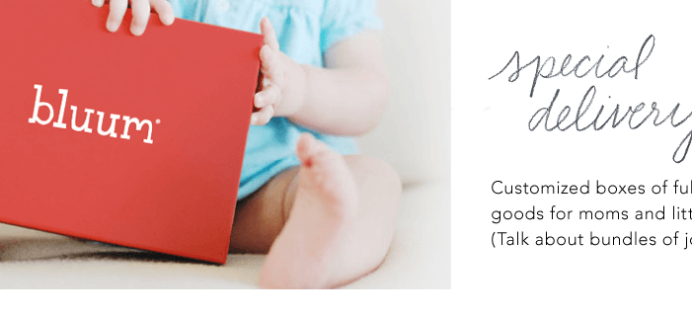 RueLaLa Subscription Box Deals: Bluum Baby Subscription Box + Giveaway!